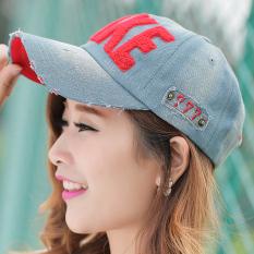Trendi Pria Koboi Wanita Matahari Topi Korea Fashion Style Bisbol Topi (Merah Tua Day (Take Topi Baseball))