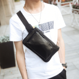 Cara Beli Trendi Pria Korea Fashion Style Kecil Selempang Miring Tas Hp Pria Tas Pinggang Hitam