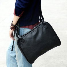 Harga Trendi Pria Korea Fashion Style Kulit Lembut Miring Tas Selempang Kasual Tas Selempang Modis Tas Pria Hitam Oem Original