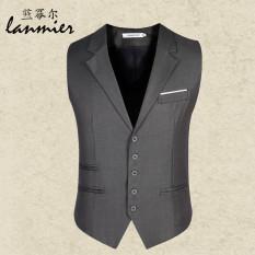 Rompi Jas Pria Vest Korea Fashion Style Slim (Abu-abu)