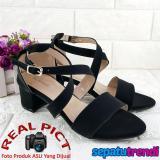 Harga Trendi Sandal Wanita High Heels Hak Tebal Block Heels Ht01 Online Jawa Barat