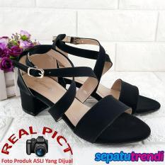 Promo Trendi Sandal Wanita High Heels Hak Tebal Block Heels Ht01 Trendi Terbaru