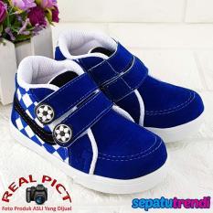 Trendi Sepatu Anak Batita High Cut Semi Boot Plaid BLKTK