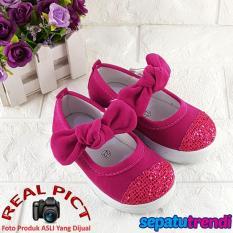 Trendi Sepatu Anak Bayi Perempuan Knot Lucu AT025