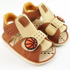 Jual Trendishoes Sandal Anak Bayi Bunyi Bola Basket Skbas Tan