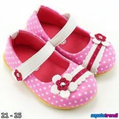 Toko Trendishoes Sepatu Anak Bayi Perempuan Pokadot Bunga Bgpkd Pink Termurah