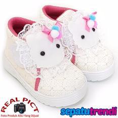 Jual Trendishoes Sepatu Anak Bayi Perempuan Semi Boot Boneka Sbnksw Putih Grosir