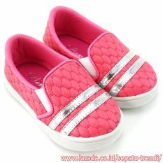 Harga Termurah Trendishoes Sepatu Anak Bayi Perempuan Slip On Cantik Elegan Fuchsia