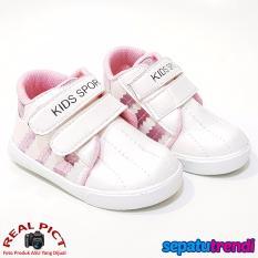 Beli Trendishoes Sepatu Anak Laki Laki Kids Sport Dsag Putih Pink Baru