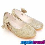 Toko Trendishoes Sepatu Anak Perempuan Glitter Pita Samping Ap013 Gold Terdekat