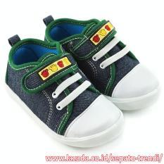 Jual Trendishoes Sepatu Bayi Walker Anak Laki Laki Velcro Strap Navy Hijau Online