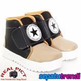Beli Trendishoes Sepatu Boot Anak Laki Laki Star Kid Stardpn Black Beige Kredit
