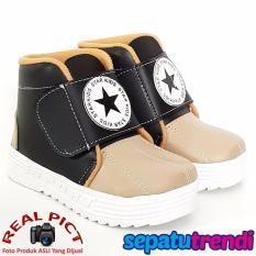 Toko Trendishoes Sepatu Boot Anak Laki Laki Star Kid Stardpn Black Beige Lengkap Di Jawa Barat