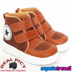 Trendishoes Sepatu Boot Anak Laki Laki Star Suede Starsmp Brown Tan Jawa Barat Diskon 50