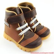 Kualitas Trendishoes Sepatu Boot Anak Laki Laki Velcro Strap Keren Coklat Tan Trendishoes
