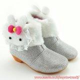 Jual Trendishoes Sepatu Boot Anak Perempuan Bahan Glitter Boneka Bulu Silver Ori