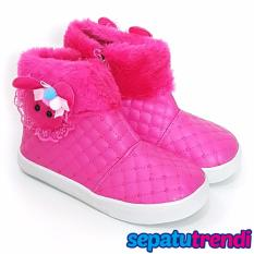 Promo Trendishoes Sepatu Boot Anak Perempuan Boneka Bulu Blbnk Fuchsia Akhir Tahun