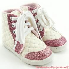 Toko Trendishoes Sepatu Boot Anak Perempuan Tali Kece Dm Putih Pink Online Di Indonesia
