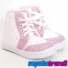 Toko Trendishoes Sepatu Boot Anak Perempuan Tali Kece Tlce Putih Pink Terdekat