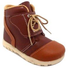 Jual Trendishoes Sepatu Boot Anak Velcro Strap Aksesori Tali Cokelat Online
