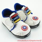 Jual Trendishoes Sepatu Bunyi Sol Karet Tameng Bintang Depan Putih Biru Baru