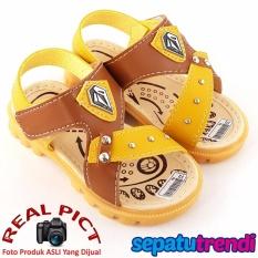 TrendiShoes Sepatu Sandal Anak Laki Keren ASVL1 - Tan Yellow