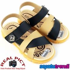 TrendiShoes Sepatu Sandal Anak Laki Keren ASVS3 - Hitam Krem