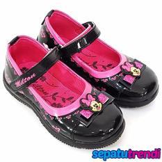 Jual Trendishoes Sepatu Sekolah Anak Perempuan Mary Jane Meta03 Hitam Pink Online