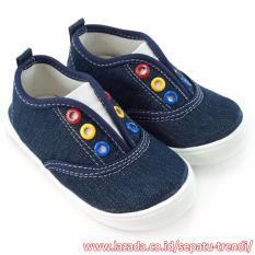 Beli Trendishoes Sepatu Anak Bayi Laki Slip On Sol Karet Ndb01 Navy Online Indonesia