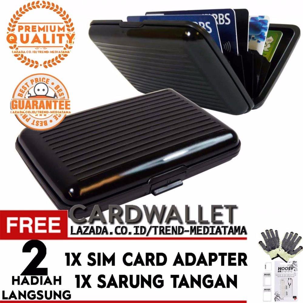 Pencarian Termurah Trend's Dompet Kartu Nama ATM KTP Credit Card Anti Air Unik Praktis Fashion Wallet Alumunium Kuat 6 slot Hitam - Gratis Sim Card Adapter ...