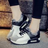 Tren Kasual Wanita Sepatu Sneakers Her Datar Sports Luar Room Pusat Menjalankan Sepatu Fashion Hitam International Oem Murah Di Tiongkok