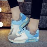 Beli Tren Kasual Wanita Sepatu Sneakers Her Datar Sports Luar Room Pusat Menjalankan Sepatu Fashion Biru International Murah