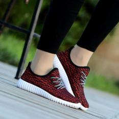 Tren Kasual Wanita Sepatu Sneakers Her Datar Sports Luar Room Pusat Menjalankan Sepatu Fashion Merah International Tiongkok