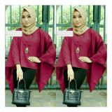 Review Toko Trendshopee Atasan Muslimah Wanita Tania Batwing Maron Online