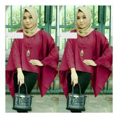 Toko Trendshopee Atasan Muslimah Wanita Tania Batwing Maron Terlengkap