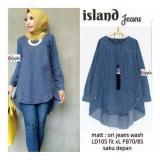 Jual Trendshopee Atasan Wanita Jeans Island Birutua Branded Original