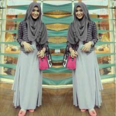 Trendy maxiu, setelan baju remaja busana muslim simpel bagus murah