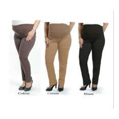 Triple Celana Hamil [Celana Rok Wanita 0104] QJQKatun stretch kombinasi kaos pinggang  ada karet untuk menyesuaikan ukuran  LP max 120cm