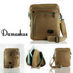 Trojika Traveller Man Tas Selempang Kecil Pria Sling Bag Damaskus Cream - Krem