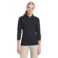 TRU-SPEC Womens 24-7 Cotton Polyester Lengan Panjang Polo Shirt, Navy,-Intl