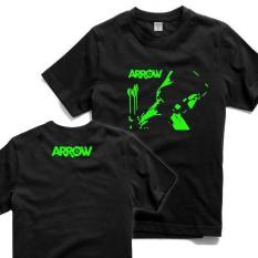 Tshirt Arrow Glow In The Dark Hitam One Tshirt Diskon 40