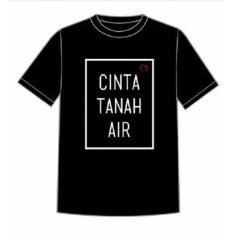 Tshirt Cinta Tanah Air Indonesia -  BLACK