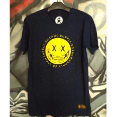 Toko Tshirt Distro Original Flamo Cloth Tshirt Pria Navy Online Terpercaya