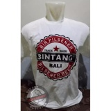 Spesifikasi Tshirt Kaos Bir Bintang Bali Putih Paling Bagus