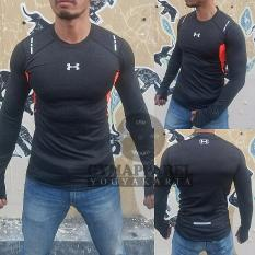 Rp 149.000. Tshirt manset baselayer under armour mens exercise misty  compression grey check ... e427dd3492