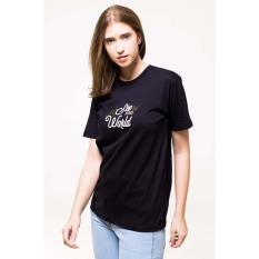 Erigo Tshirt See The World Unisex Black Terbaru