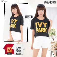 MichelleStore Kaos / T-shirt / Baju / Crop Top Ivy Park Red