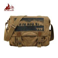 Top 10 Tts Tas Salempang Pria Tas Kanvas Klasik Model Army Khaki Online