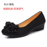 Harga Tua Beijing Lembut Bawah Non Slip Sepatu Kerja Sepatu Bernapas Sepatu Kain Hitam Sepatu Wanita Flat Shoes Yang Bagus