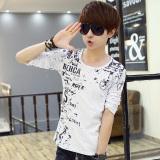 Jual Beli Tuan 3D Musim Gugur Baru Korea Fashion Style Slim T Shirt Lengan Panjang Singa Putih